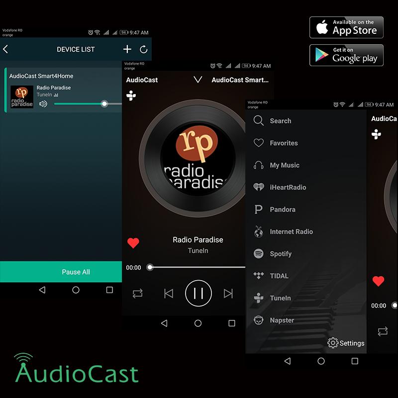 Audiocast-M5-wifi meniu
