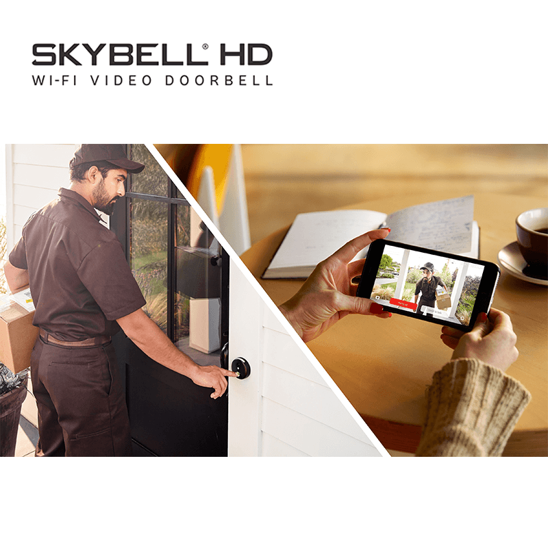 SkyBell HD vizitator curier, postas